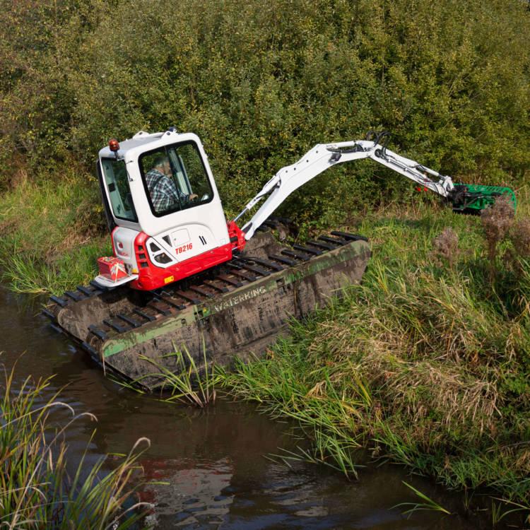 mini amphibious excavator