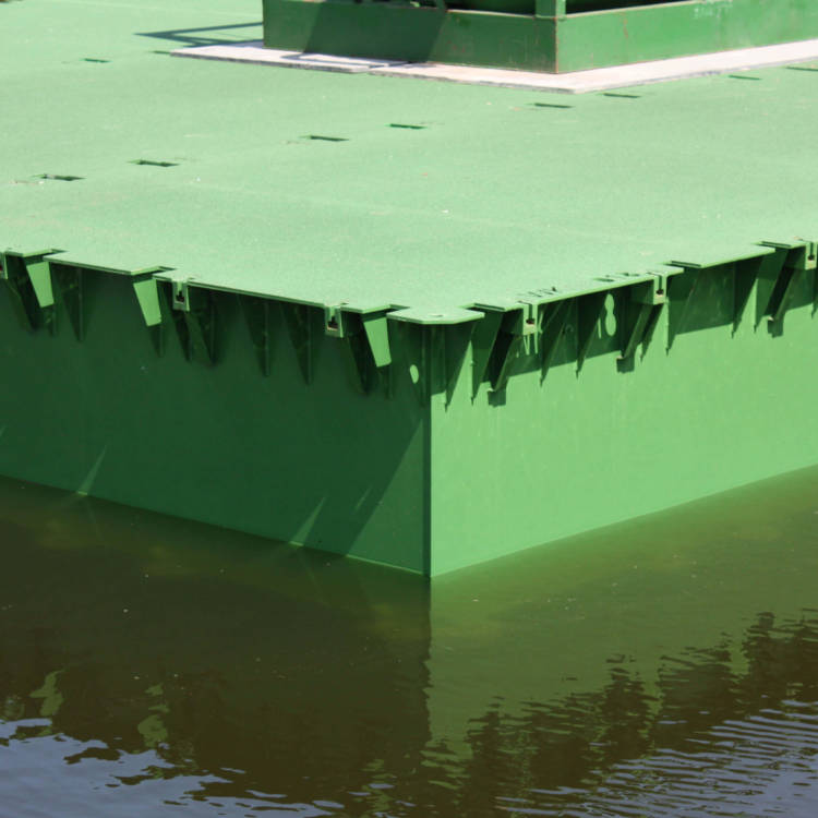 pontoons floating bridge