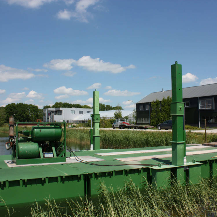 pontoons floating platform or bridge