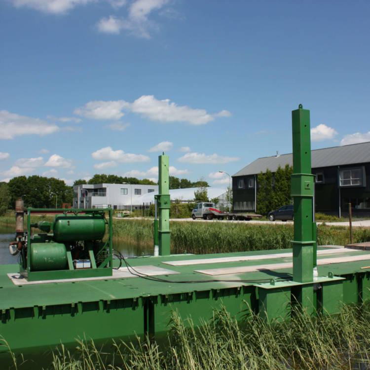 floating platform or bridge